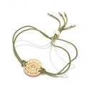 24k Gold Gloss Green Heart Chakra Bracelet