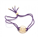 24k Gold Gloss Purple Brow Chakra Bracelet