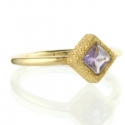 Amethyst Shimmer Stacking Ring