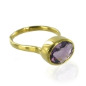 Candy Oval Amethyst Stacking Ring