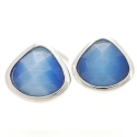 Blue Harlequin Crystal Cufflinks