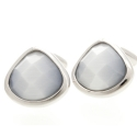 Light Grey Harlequin Crystal Cufflinks
