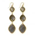 Labradorite Cocktail Drop Earrings