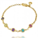Gold Gemstone Friendship Bracelet