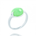 Silver Chrysoprase Stacking Ring