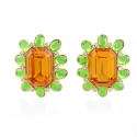 Peridot and Topaz Earrings