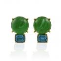 Peridot and Aqua Earrings