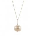 Pearl Drop Silver Necklace