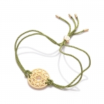Daisy 24k Gold Gloss Green Heart Chakra Bracelet
