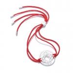 Daisy Sterling Silver Red Base Chakra Bracelet