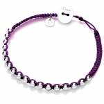 Purple Friendship Bracelet by Daisy Jewellery