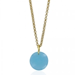 Leo Aqua necklace by Monica Vinader
