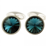 Blue Swarovski Galileo Cufflinks by Babette Wasserman
