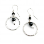 Twisted hoop earrings by Karen Morrison