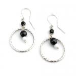 Twisted hoop earrings by Karen Morrison