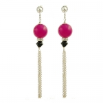Pink deco earrings by Karen Morrison