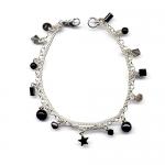 Onyx charm bracelet by Karen Morrison
