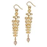 Gold Etruscan Earrings by Mirabelle