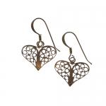 Filigree Heart earrings by Mirabelle