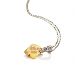 Faceted Rock Necklace by Babette Wasserman