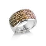 Glitter Champagne Chameleon Ring by Babette Wasserman