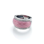 Infinity Porcelain ring (Pink) by Babette Wasserman