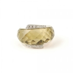 Smokey Quartz Infinity Cocktail ring by Babette Wasserman