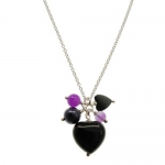 Onyx heart necklace by Karen Morrison