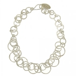 Silver Loop necklace by Mirabelle
