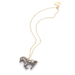 Pewter Horse Charm Necklace by Gemma Lister