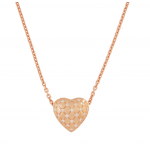 Electra Rose Gold Heart Necklace by Babette Wasserman