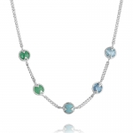 Silver Gemstone Necklace by Missoma