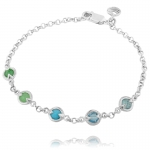 Silver Gemstone Friendship Bracelet by Missoma