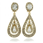 Antique Crystal Teardrop Earrings