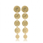 Gold Coin Drop Earrings by Kenneth Jay Lane
