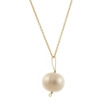 Pearl Drop Gold Necklace by Melissa McArthur