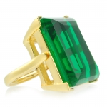 Emerald Cocktail Ring by Kenneth Jay Lane