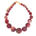 Ruby Agate Necklace by Kenneth Jay Lane