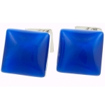 Lightening Blue Cufflinks by Babette Wasserman