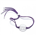 Sterling Silver Purple Brow Chakra Bracelet
