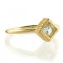 Blue Topaz Shimmer Stacking Ring