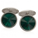 Emerald Swarovski Galileo Cufflinks