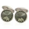 Black Diamond Swarovski Galileo Cufflinks