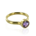 Candy Gold Amethyst Stacking Ring