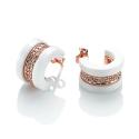 White Deco Earrings