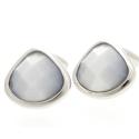 Light Grey Harlequin Crystal Cufflinks