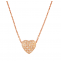 Electra Rose Gold Heart Necklace