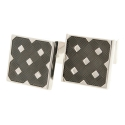 City Black Check Cufflinks