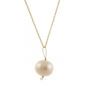 Pearl Drop Gold Necklace