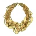 22k Gold Braided Statement Necklace
